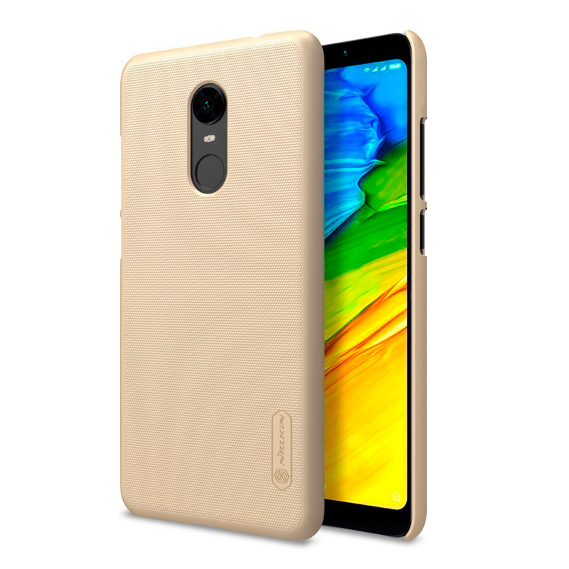 Nilkin Super Frosted Shield պաշտպանիչ պատյան Xiaomi Redmi 5 Plus-ի համար gold 1